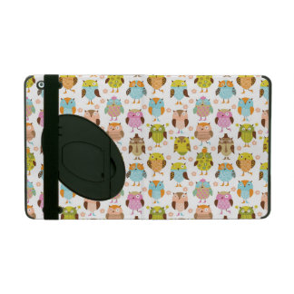 pattern with birds iPad folio cases