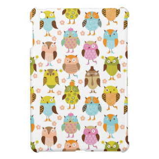pattern with birds iPad mini covers