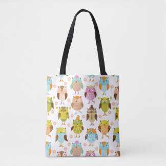 pattern with birds tote bag