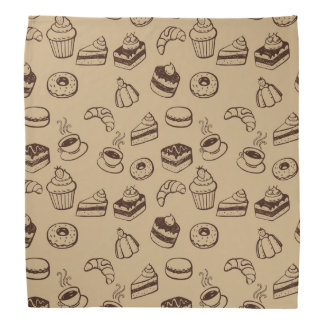 Pattern With Cakes, Desserts And Bakery Bandana