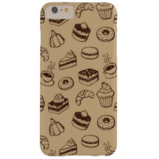 Pattern With Cakes, Desserts And Bakery Barely There iPhone 6 Plus Case