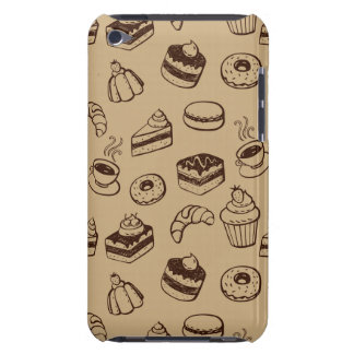 Pattern With Cakes, Desserts And Bakery Barely There iPod Cover