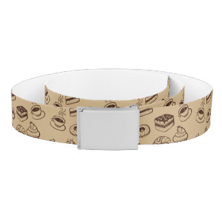 Pattern With Cakes, Desserts And Bakery Belt