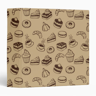 Pattern With Cakes, Desserts And Bakery Binder