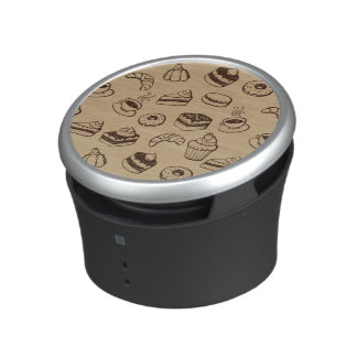 Pattern With Cakes, Desserts And Bakery Bluetooth Speaker