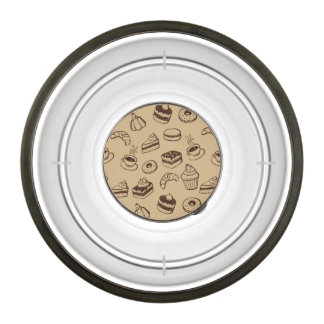 Pattern With Cakes, Desserts And Bakery Bowl