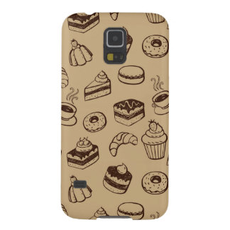 Pattern With Cakes, Desserts And Bakery Cases For Galaxy S5