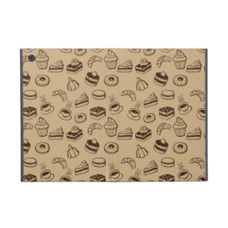 Pattern With Cakes, Desserts And Bakery Cases For iPad Mini