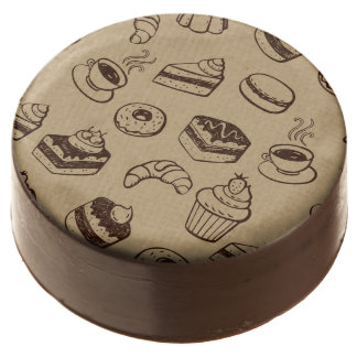 Pattern With Cakes, Desserts And Bakery Chocolate Dipped Oreo
