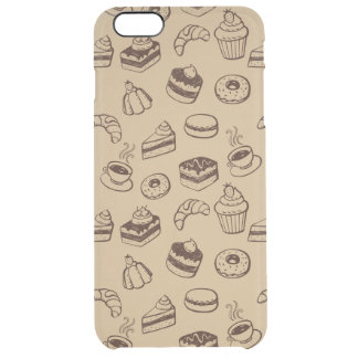 Pattern With Cakes, Desserts And Bakery Clear iPhone 6 Plus Case