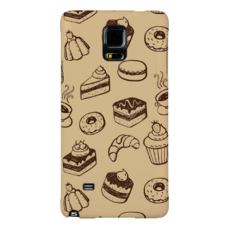 Pattern With Cakes, Desserts And Bakery Galaxy Note 4 Case