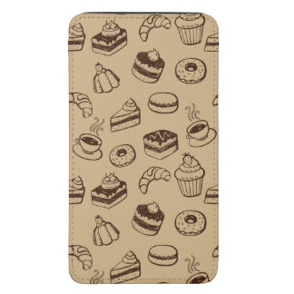 Pattern With Cakes, Desserts And Bakery Galaxy S5 Pouch