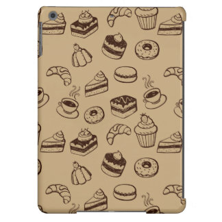 Pattern With Cakes, Desserts And Bakery iPad Air Cover