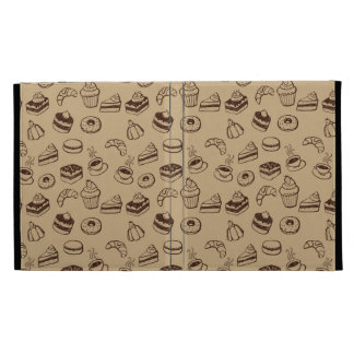 Pattern With Cakes, Desserts And Bakery iPad Folio Covers