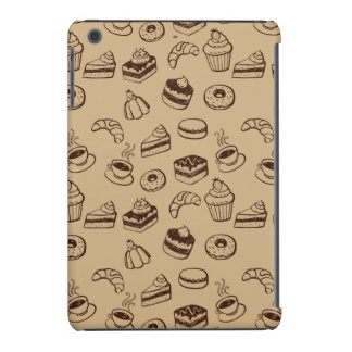 Pattern With Cakes, Desserts And Bakery iPad Mini Covers