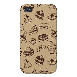 Pattern With Cakes, Desserts And Bakery iPhone 4/4S Case