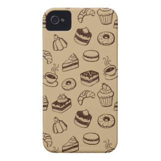 Pattern With Cakes, Desserts And Bakery iPhone 4 Case-Mate Cases