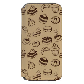 Pattern With Cakes, Desserts And Bakery iPhone 6/6s Wallet Case