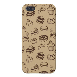 Pattern With Cakes, Desserts And Bakery iPhone SE/5/5s Cover