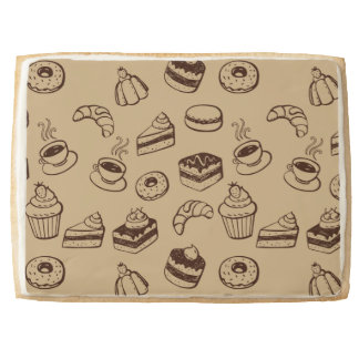 Pattern With Cakes, Desserts And Bakery Jumbo Cookie
