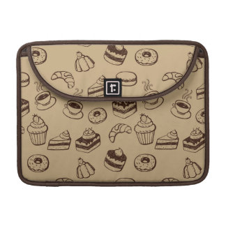 Pattern With Cakes, Desserts And Bakery MacBook Pro Sleeve