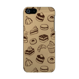 Pattern With Cakes, Desserts And Bakery Metallic iPhone SE/5/5s Case