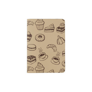 Pattern With Cakes, Desserts And Bakery Passport Holder