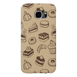 Pattern With Cakes, Desserts And Bakery Samsung Galaxy S6 Cases