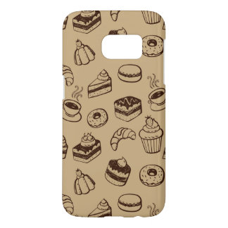 Pattern With Cakes, Desserts And Bakery Samsung Galaxy S7 Case