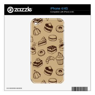 Pattern With Cakes, Desserts And Bakery Skins For The iPhone 4