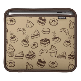 Pattern With Cakes, Desserts And Bakery Sleeve For iPads