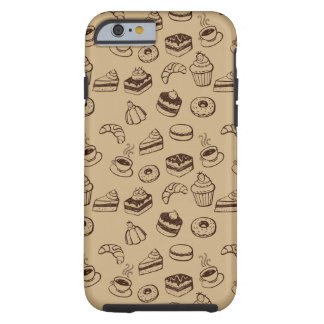 Pattern With Cakes, Desserts And Bakery Tough iPhone 6 Case