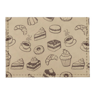 Pattern With Cakes, Desserts And Bakery Tyvek® Card Wallet