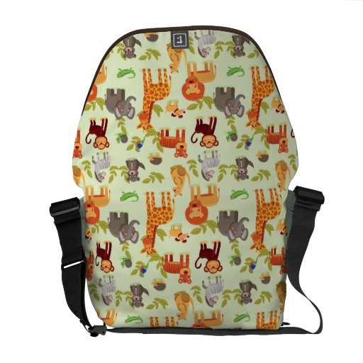 Pattern With Cartoon Animals Courier Bag