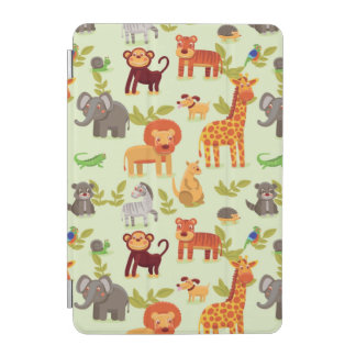 Pattern With Cartoon Animals iPad Mini Cover