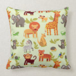 Pattern With Cartoon Animals Pillow