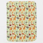 Pattern With Cartoon Animals Stroller Blanket