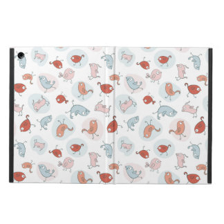 pattern with cartoon birds iPad air cases