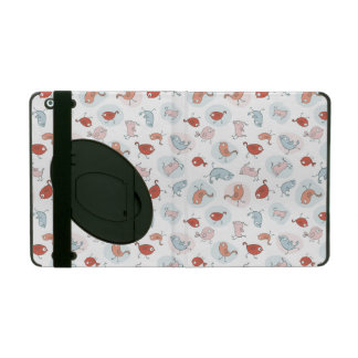 pattern with cartoon birds iPad cases