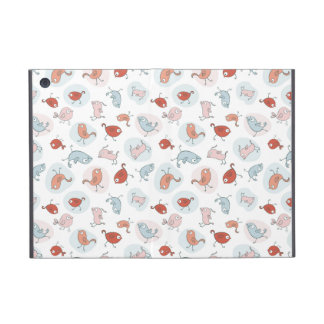 pattern with cartoon birds iPad mini case