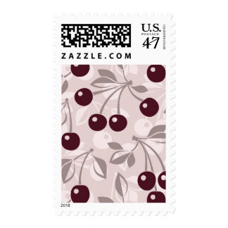 Pattern with Cherries 2 Postage