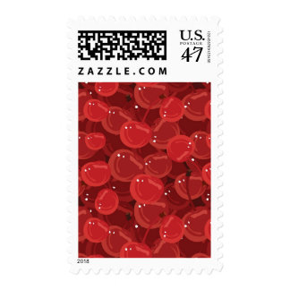 Pattern With Cherries Postage