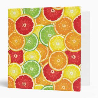 Pattern with citrus fruits 3 ring binder