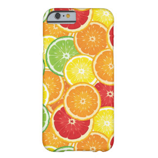 Pattern with citrus fruits barely there iPhone 6 case