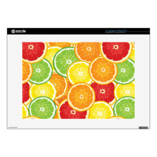 """Pattern with citrus fruits decal for 15"""" laptop"""