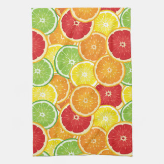 Pattern with citrus fruits hand towel