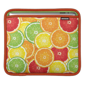 Pattern with citrus fruits iPad sleeves