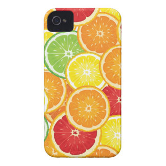 Pattern with citrus fruits iPhone 4 covers