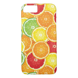 Pattern with citrus fruits iPhone 7 case