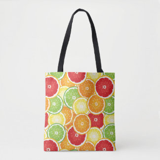 Pattern with citrus fruits tote bag